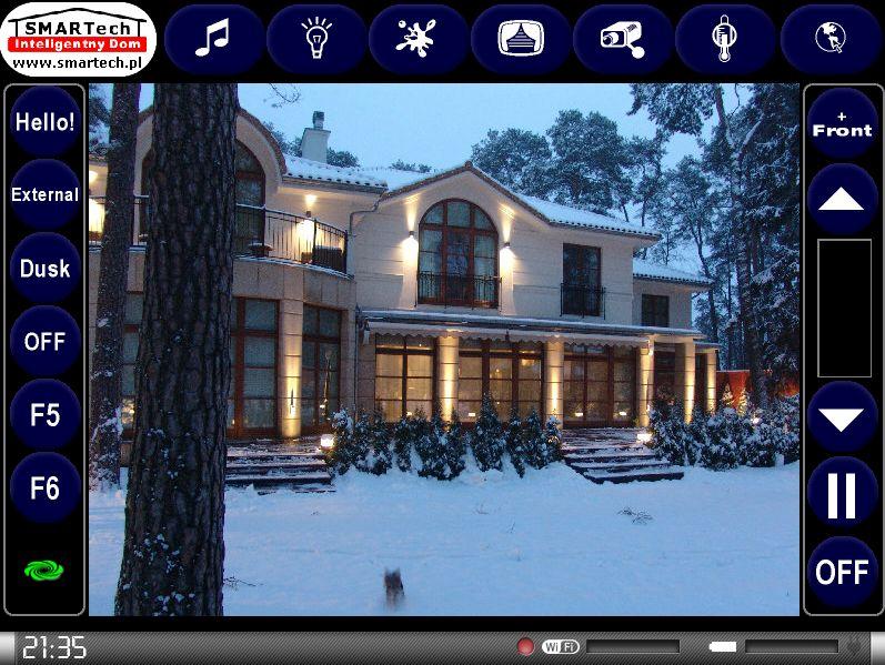 Zobacz KNX i Crestron - inteligentne sterowanie sprzętem audio/video - SMARTech Inteligentny Dom Panel dotykowy 1