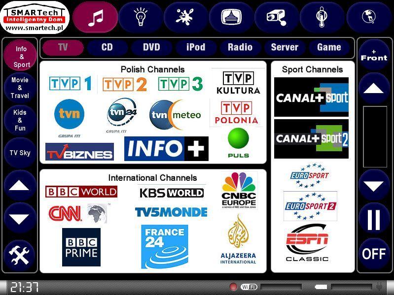 Zobacz KNX i Crestron - inteligentne sterowanie sprzętem audio/video - SMARTech Inteligentny Dom Panel dotykowy 3