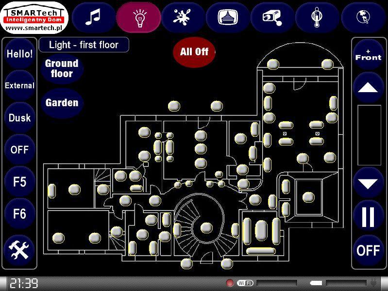 Zobacz KNX i Crestron - inteligentne sterowanie sprzętem audio/video - SMARTech Inteligentny Dom Panel dotykowy 6