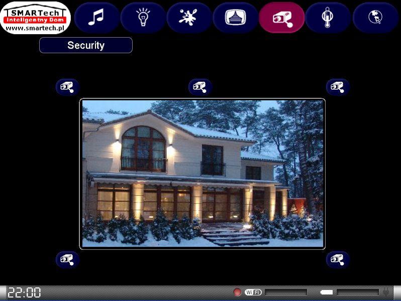 Zobacz KNX i Crestron - inteligentne sterowanie sprzętem audio/video - SMARTech Inteligentny Dom Panel dotykowy 7